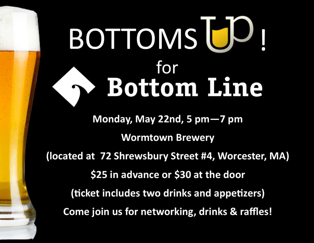Bottoms Up for Bottom Line Worcester Invitation